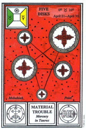 Таро церемониальной магии. 5 Дисков