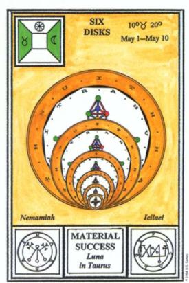Таро церемониальной магии. 6 Дисков