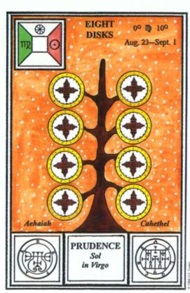 Таро церемониальной магии. 8 Дисков
