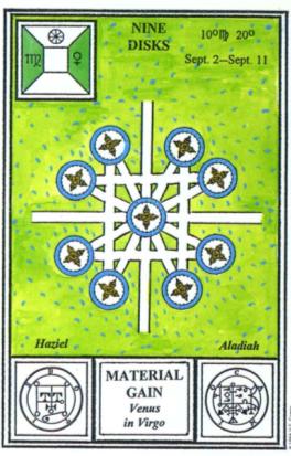 Таро церемониальной магии. 9 Дисков