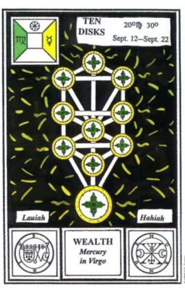 Таро церемониальной магии. 10 Дисков