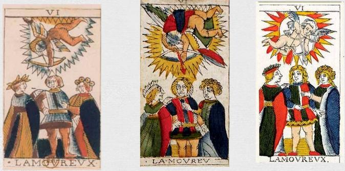 Варианты дизайна Марсельского Таро