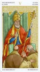 Универсальное Таро Вирта (Universal Wirth Tarot ), Аркан Папа
