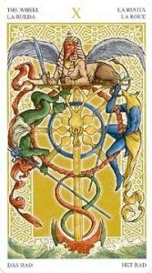 Универсальное Таро Вирта (Universal Wirth Tarot ), Аркан Колесо Фортуны