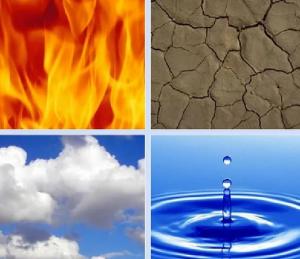 четыре стихи, огонь вода воздух земля дух пентаграмма