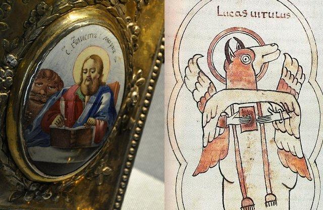Лев апостола Марка и Лука как человек - бык.