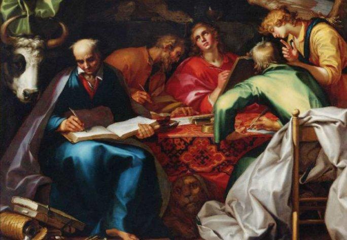 Бык Тетраморфа как символ евангелиста на картине Блумарта