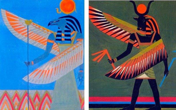 Тетраморф на изображениях Керубов - хранителей Стихий.