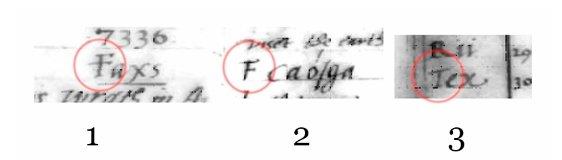 Почерк Джона Ди, буквы T и F