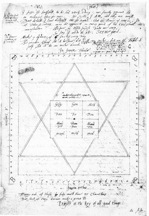 Священный стол из рукописи Джона Ди, оригинал