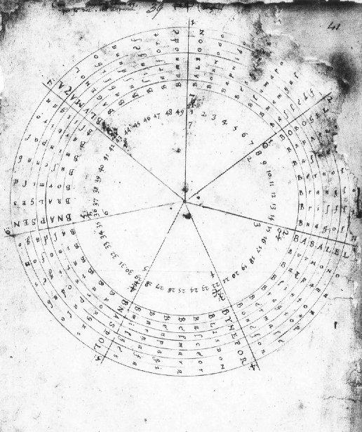 """""""Tabula bonorum"""" - круглая схема, включающая все 49 ангелов Гептархии."""