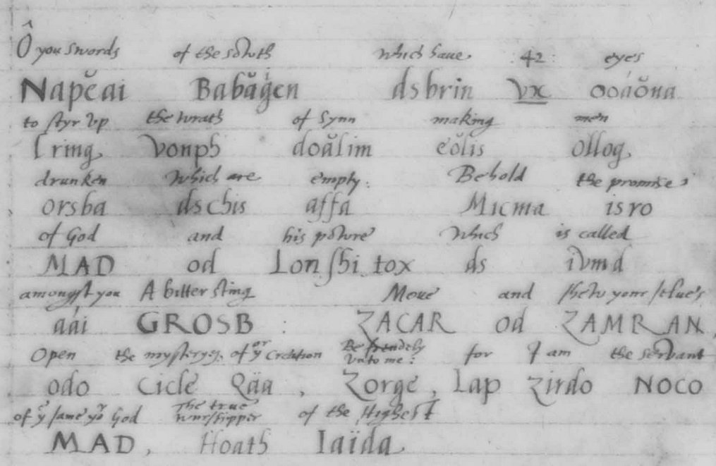13 Енохианский Зов, рукописи Ди