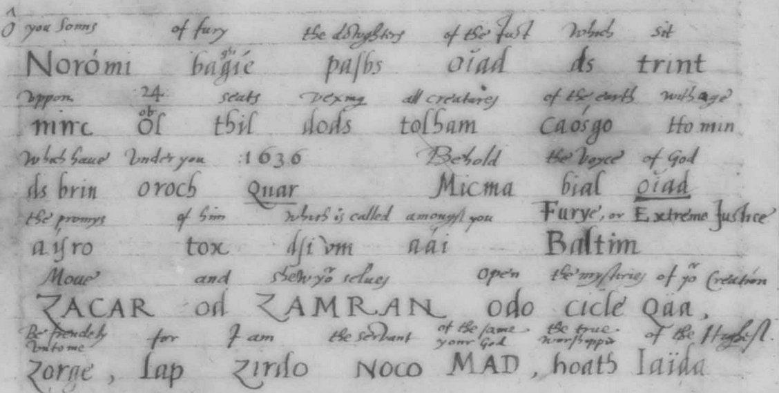 14 Енохианский Зов, рукописи Ди