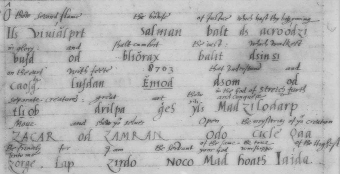 16 Енохианский Зов, рукописи Ди