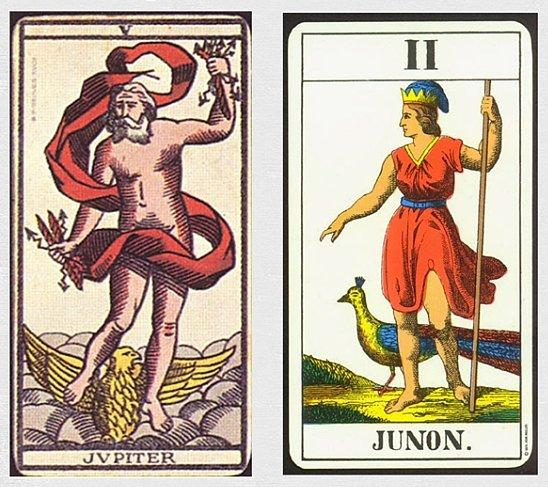 Варианты колод Таро Юпитера и Юноны