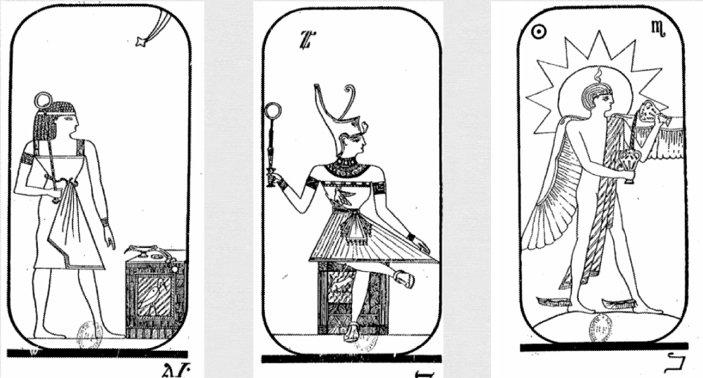 Египетское таро с алфавитом магов на картах