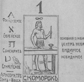 Таро Папюса - русское издание, карта Скоморох (Маг)