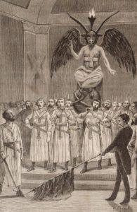 """Масоны поклоняются Бафомету (из книги """"Дьявол в 19 веке"""")"""