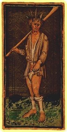 Таро Висконти-Сфорца (Пьерпонт Морган Бергамо), карта Дурак